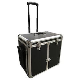 Koffer met trolley zwart economy