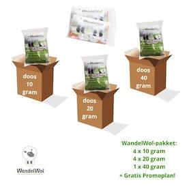 Wandelwol Kennispak. 4x 10 gr. 4x 20 gr. 1x 40 gr. + promoti