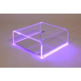 Podoscoop plexiglas met groen licht max. 180 kg